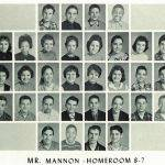1960 Homeroom 8-7, Mr. Mannon. 1- 4th Roger Pearson 2- 6th Martha Horton 3-  4th Mary Belcher, 5th Annabelle Knott,  7th George Harmon,  8th Jerry Baisden 4-1st Dale Scott, 3rd Danny Bartram,  6th Donny Runyon, 7th Larry Sargent,  8th Walter Jones 5- 2nd James Patterson.