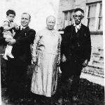 Alice Taylor her Dad at Hitchens, KY with Louis Taylor, Bijah Taylor, Alice Taylor, Bill Taylor