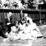Alice Taylor with daughters Virginia and Elizabeth visit Chicago