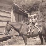 41 - Boys on a horse