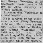 Logan Banner, May 6, 1967 obit for George Browning