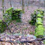 Small stone building remains at Chief Logan State Park