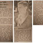 Clyde C. Chafin, WWII clipping courtesy of Susan Muncey