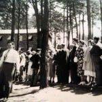 Cullodon Camp Dinning line. Pilgrim Holiness camp ground at Cullodon, WV.