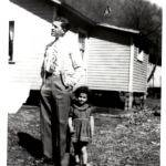 25 - Daddy and his shadow at Slagle, WV