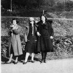 Elizabeth and Virginia Taylor with friend - March 31, 1926