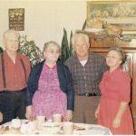 Fred and Bertha Hutchinson with son and daughter-in-law