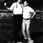 Johnny Jones and friend at Monitor Ball Park -1927