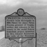 Entering Preston County, WV