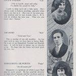 LHS 1926 Seniors p23 Lucile Lawson, Joe Skibo and Marguerite Dilworth
