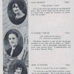 LHS 1926 Seniors p26 Cleo Murphy, Claybert Whith and Opal Claypool