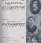 LHS 1926 Seniors p33 Orpha Cook, Fred Cross and Dorothy Holiday