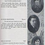 LHS 1926 Seniors p39 Zanna Mullins, Alfonso Browning and Nellie Justice