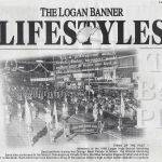 LHS 1968 Marching Band, Logan Banner Clipping