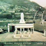 The Triangle Service Station and Water Street Bridge