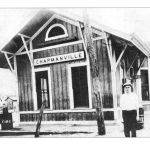 Lon McComas at old C&0 Railroad Depot in Chapmanville