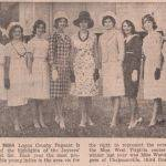 1966 Miss Logan County Pageant