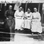 Neighbors joining Alice Taylor on her porch July 5 1923.