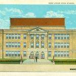 New  Logan High School Postcard