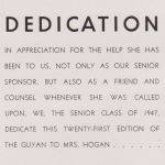 1947 LHS Yearbook, Page 8, Dedication
