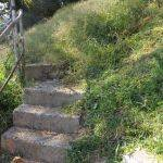 Steps up to the McDonald Cemetery (2)