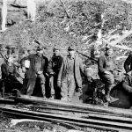 Sylvestor Jones with other miners
