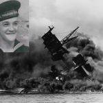 The USS Arizona sinking during the attack on Pearl Harbor, December 7, 1941. Tilmon David Browning is one of the 900+ still onboard. He was from Omar, WV and was the son of Dewey Tilmon Browning.