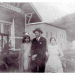 Unknown family at the Chapmanville Train Depot.