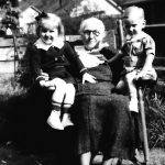 Virginia Jones with grandchildren Helen Jones and Johnny Jones Jr