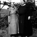 Virginia Jones with her mother Martha Moore