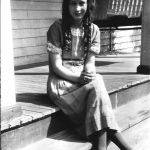 Virginia Taylor on her front porch.
