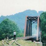 Warfield, WV railroad bridge,1988
