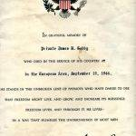 WWII in memory Pvt. James B Gody