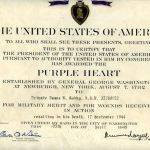 WWII Purple Heart Award, Pvt. James B. Godby