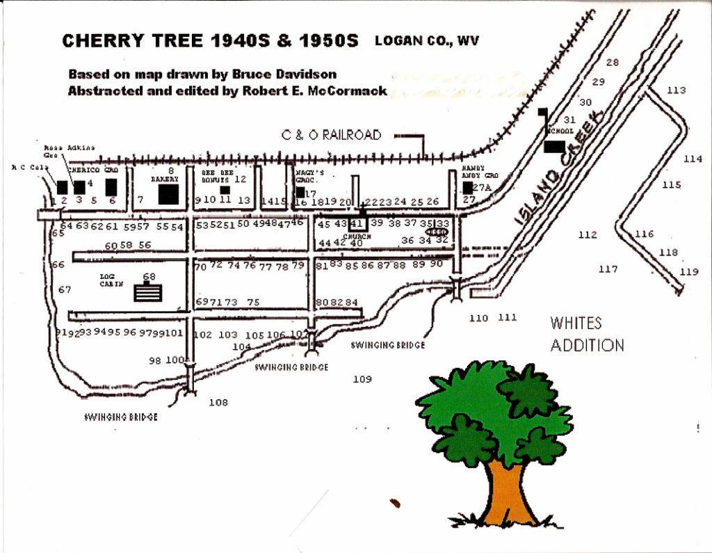 Cherry Tree Map 1940s and 50s