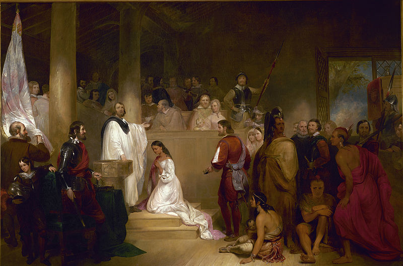 Pocahontas at her baptism as Rebecca