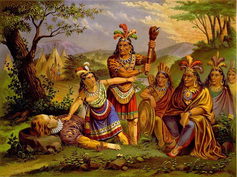 Pocahontas Saving the life of Capt John Smith
