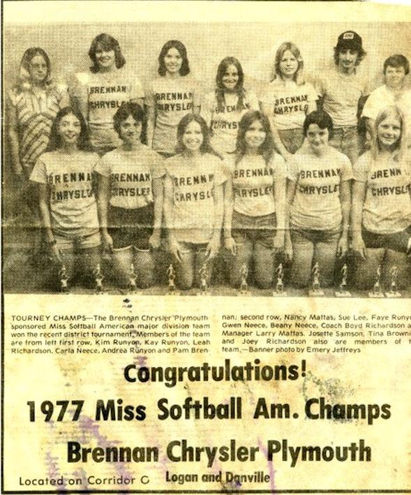 1977 Miss Softball Am. Champs