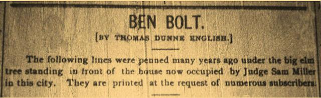 Ben Bolt Logan Banner 1903 newspaper clipping