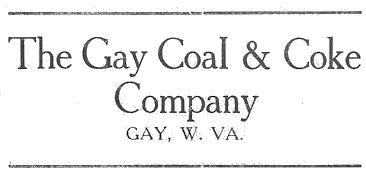 Gay Coal and Coke Co. 1916 Ad