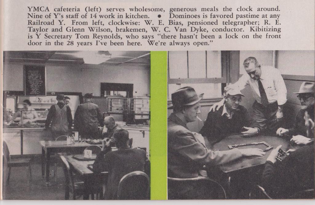 Peach Creek, WV, YMCA Cafeteria, March 1955, Tracks Magazine, Page 13