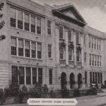 Logan Senior High School, Logan, WV postcard