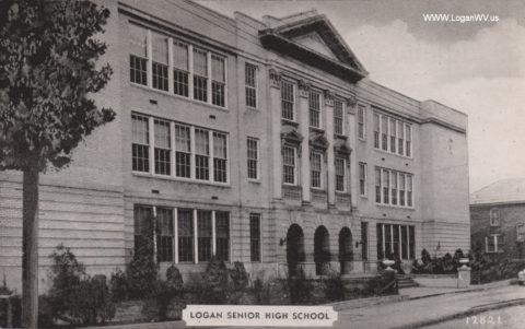 Logan Senior High School, Logan, WV postcard