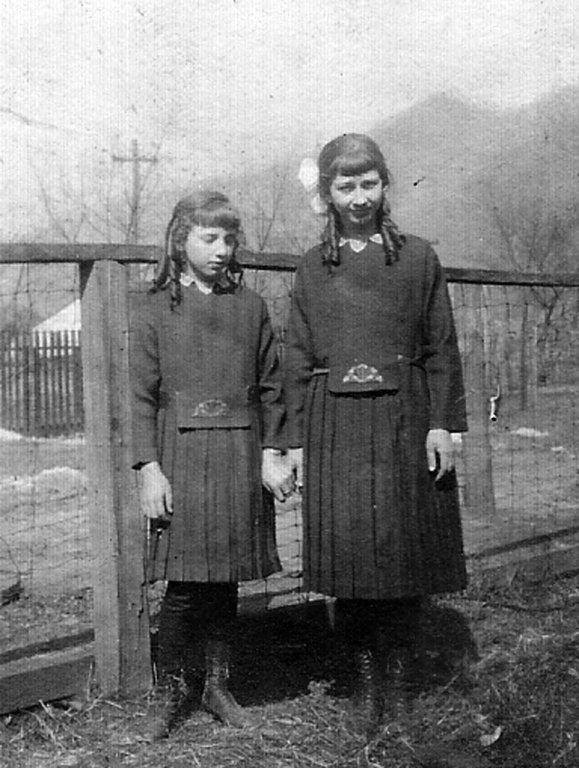 Virginia Taylor and Elizabeth Taylor of Monitor, WV. taken  in 1922.