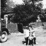1938 Gabor Tarkany with his dog, Prince