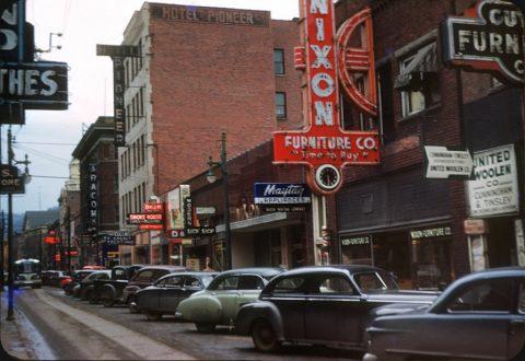 1950s Stratton Street, Logan, WV.