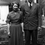 Virginia Taylor McCormack and Clovis McCormack taken in the front yard of their home in Cherry Tree, WV in 1952.