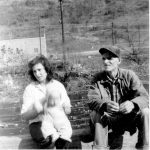 George Thompson with his adopted daughter Betty Petroff Thompson and her son Ralph in 1955.