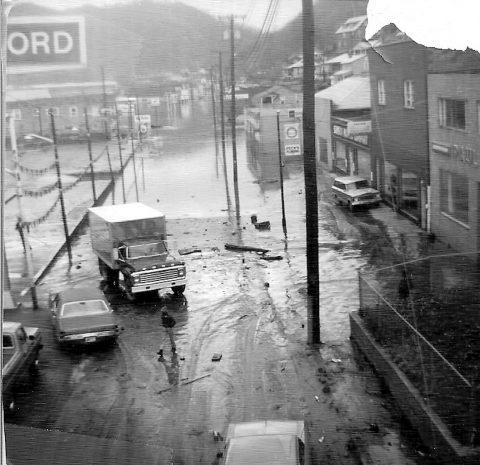 Logan County, WV 1963 flood at Black Bottom.