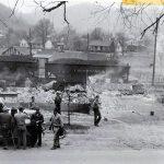 1940s Draper, Logan County, WV fire aftermath